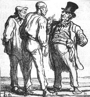 Le bibiscite par Daumier